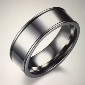 Men Women Stainless Steel Titanium Band Ring SZ 12